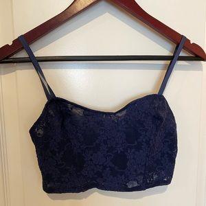 American apparel lace bralette blue